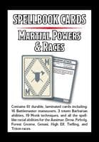 Martial Powers and Races Spellbook Cards - D&D | Black Star games | UK